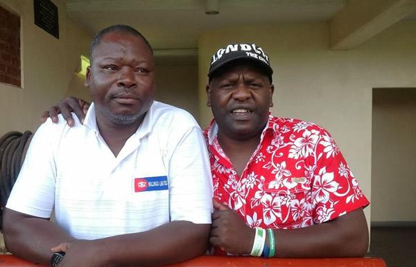 Moses Chunga with journalist Ezra Sibanda