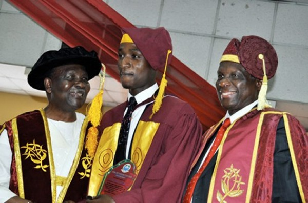 From left: Former Head of State General Yakubu Gowon; Abubakar and UNILAG's Pro-Chancellor, Prof. Jerry Gana…yesterday.