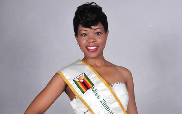 Reigning Miss Zimbabwe Bongani Dhlakama