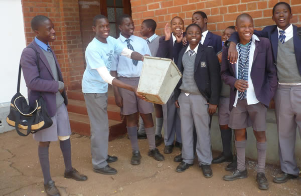 Pupils at Milton High School in Bulawayo