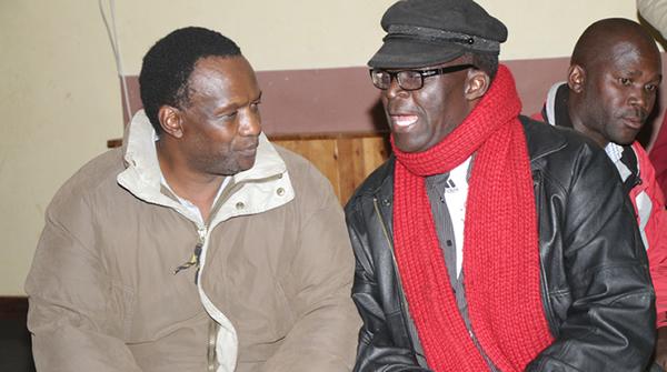 Guest of honour Bob Nyabinde and Peter Muparutsa