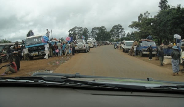 Dedza Border post between Mozambique and Malawi.