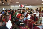 MDC-T structures in the UK listen to Morgan Tsvangirai address in Birmingham on Saturday.