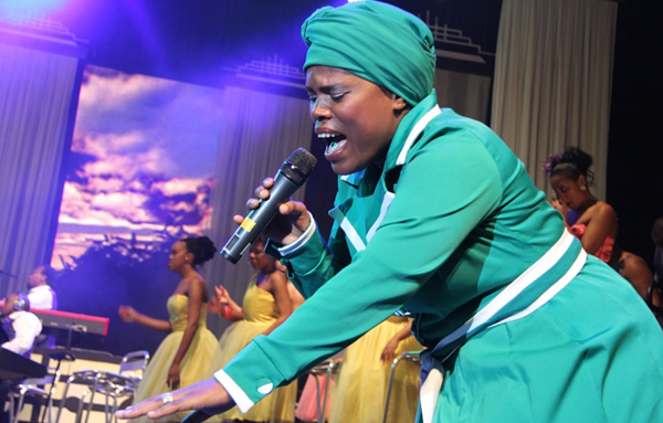 Spumelele Mbambo, a member of award -winning South African gospel outfit Joyous Celebration Choir