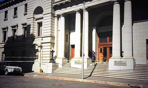 The entrance to the Western Cape High Court