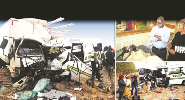 Truck-bus crash kills 18 people
