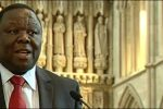 Tsvangirai during an address in the UK in June 2009.
