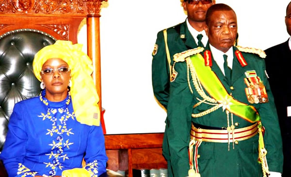 Grace Mugabe seen here in Parliament