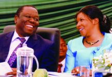 Morgan Tsvangirai and wife Elizabeth Macheka