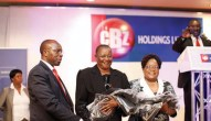 Vice President Joice Mujuru (right) at a CBZ Holdings function