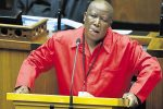 EFF leader Julius Malema making sure no one nods off in Parliament