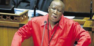 EFF leader Julius Malema making sure no one nods off in Parliament