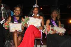 First Princess Tyra Muropa, Miss Utakataka Caren Chimoyo and Second Princess Thelma Ndumure