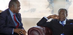 Gideon Gono with President Robert Mugabe