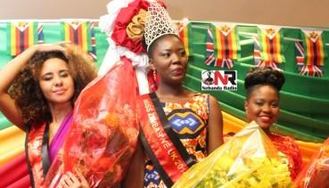From left to right: First Princess Ginny Lashanda Pettitt, Miss Zimbabwe UK 2014 Jacqueline Moyo and Second Princess Ordain Buhlebenkosi Moyo