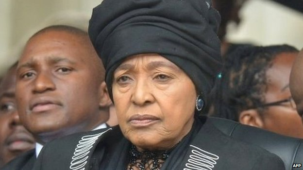 Mrs Madikizela-Mandela grew apart from Nelson Mandela during his many years in prison