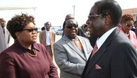 Joice Mujuru, Simon Khaya Moyo and Robert Mugabe