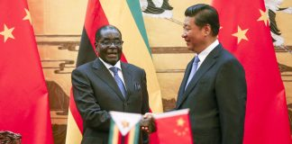 Mr Mugabe has increasingly leaned on China for financial support after being shunned by Western trade and financial partners following his re-election in 2013