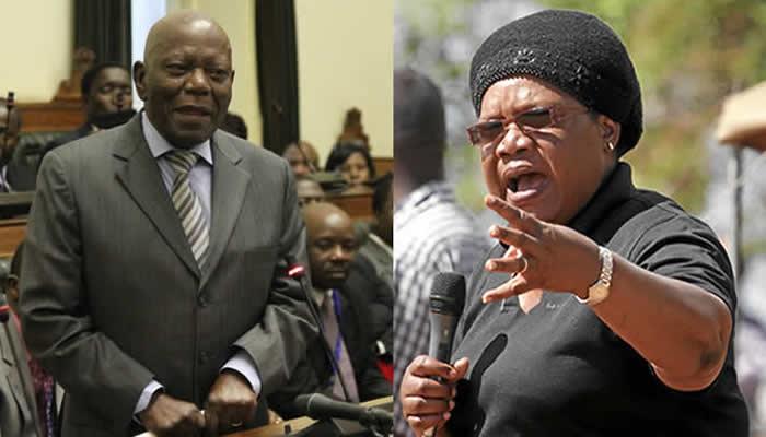 Mutsvangwa savages Mutasa (left) and threatens Mujuru (right)