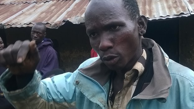Peter Loituktuk, a Turkana, is one of the men in Moi's Bridge who is in hiding fearing forced circumcision
