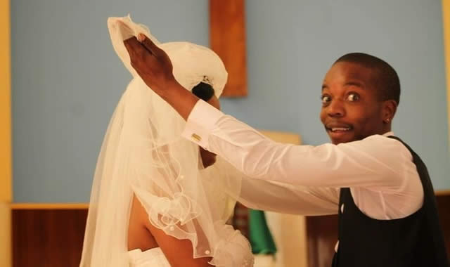 Sharon Macheso and Kuda Munetsi during the wedding