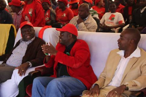 Morgan Tsvangirai, Morgen Komichi and Nelson Chamisa