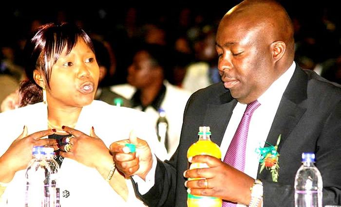 Oppah Muchinguri (left) with Saviour Kasukuwere