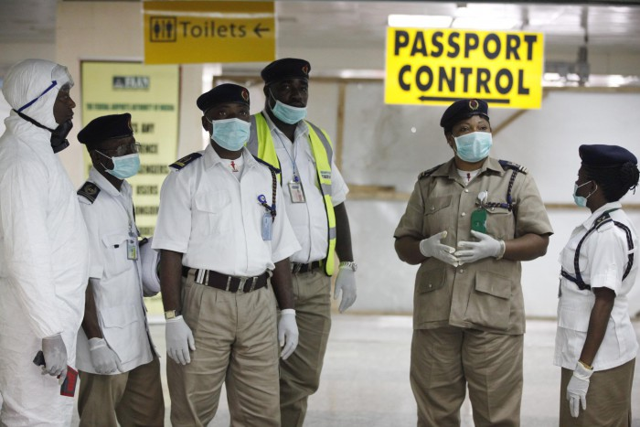 Airports in Nigeria are now screening passengers for Ebola on their arrival