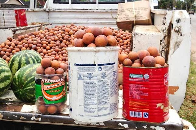 Vendor sprinkles fruits with urine