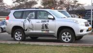 Zanu PF Youth League vehicle with picture of Grace Mugabe