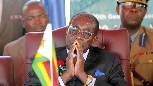 Mugabe being forced to deal with factionalism in his party. Picture: AFP