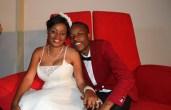 WEDDING BLISS. . . Above, Sharon Macheso poses with his husband Kudakwashe Munetsi at their wedding at Pakare Paye Arts Centre in Norton