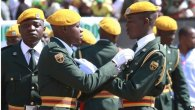 Zimbabwean soldiers during Heroes Day celebrations