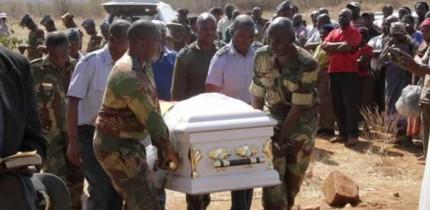 Air Force of Zimbabwe pilot Squadron Leader Taurai Jombo burial