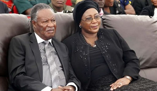 Zambian President Michael Sata and First lady Christine Kaseba