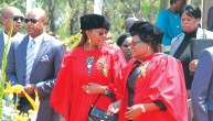 First Lady Grace Mugabe and Vice President Joice Mujuru get their PhD's (Pic by NewsDay)