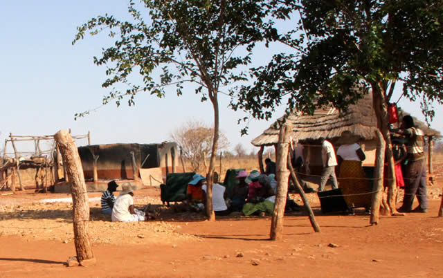 The Khanye homestead in Kernburg, Umguza where 3 children were burnt to death