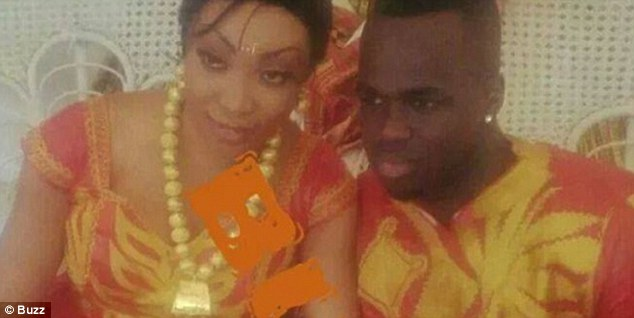 Pictures have emerged that claim to show footballer Cheick Tiote with his second wife Laeticia Doukrou.