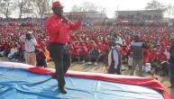 Tsvangirai addressing supporters in Masvingo