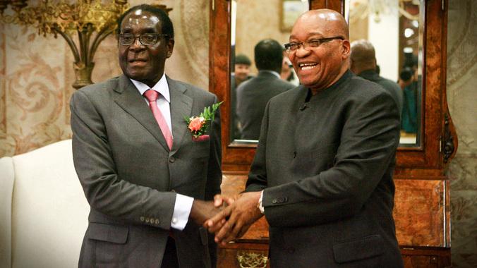 President Mugabe with his SA counterpart Zuma