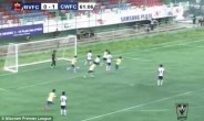 Biaksangzuala wheels away in celebration after scoring the equaliser against Chanmari West FC
