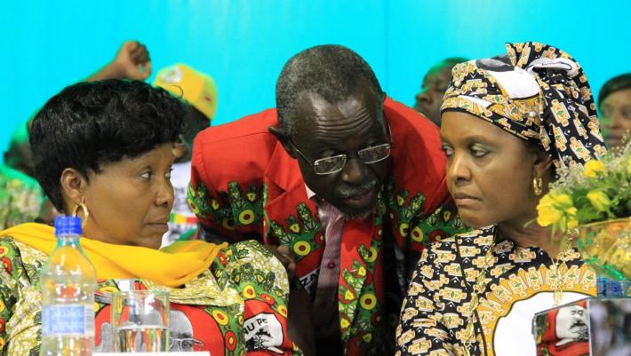 Oppah Muchinguri, Amos Midzi and Grace Mugabe