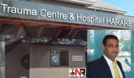 Trauma Centre Hospital in Harare and Dr Vivek Solanki (insert)