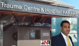 Trauma Centre Hospital in Harare and Dr Vivek Solanki (insert)