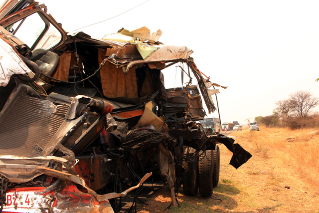 Driver killed in haulage trucks collision