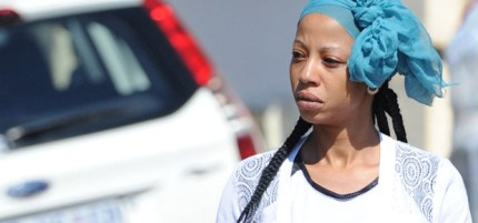 Kelly Khumalo arrives at her house in Spruitview. (Gallo Images)