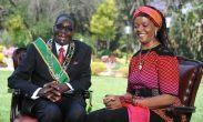 Fancy the Presidency love?: Mugabe and wife Grace