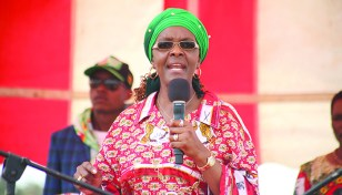 Grace Mugabe fumes as women walk out