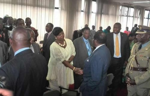 On Friday President Robert Mugabe was chairing a make or break meeting of his Zanu PF Politburo (Picture: Clarkson Mambo on twitter)