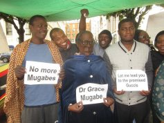 Zimbabwe Vigil demonstrators